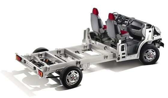 Chassis auvent du Fiat Ducato