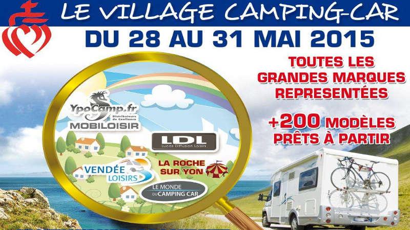 Affiche Portes Ouvertes Village Camping-Car
