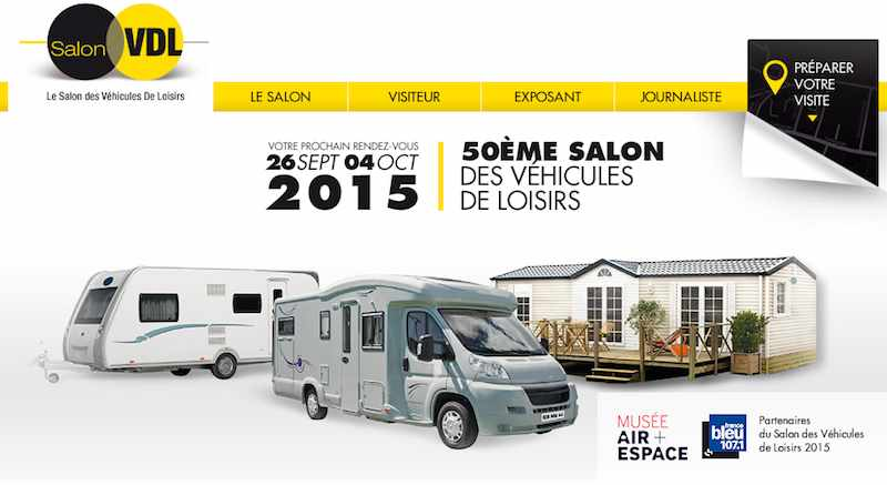 informations pratiques salon des v hicules de loisirs paris le bourget camping car le site. Black Bedroom Furniture Sets. Home Design Ideas
