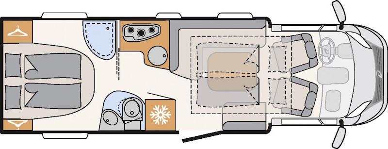 Camping-car Dethleffs 4-Travel aménagement