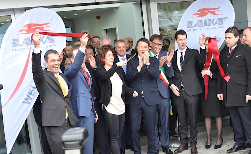 Inauguration usine Laika