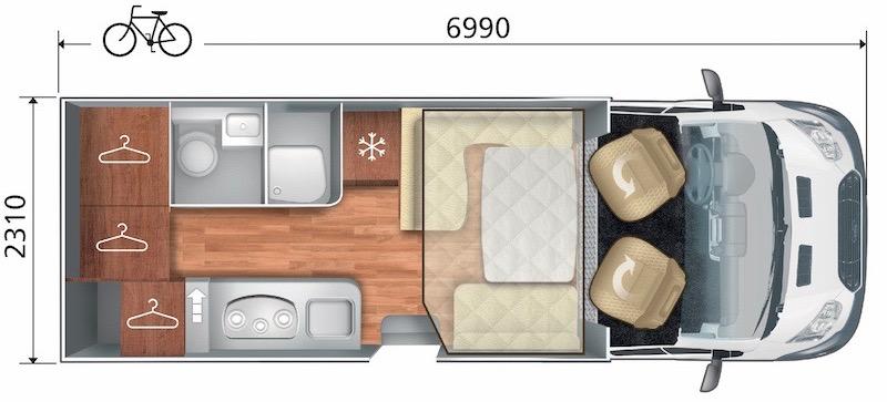 Plan d'aménagement du Kronos 236TL et Nacre 36XT
