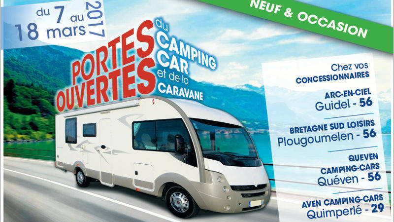 bretagne portes ouvertes de 5 concessionnaires bretons du 7 au 18 mars camping car le site. Black Bedroom Furniture Sets. Home Design Ideas