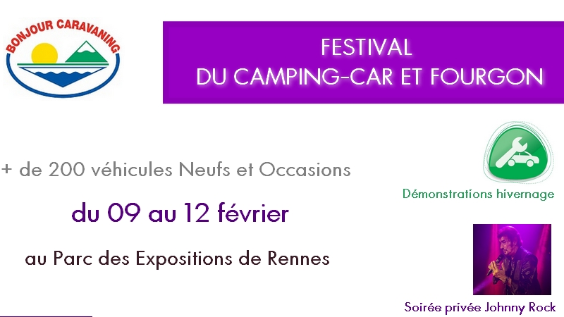 festival camping cars fourgons bonjour caravaning
