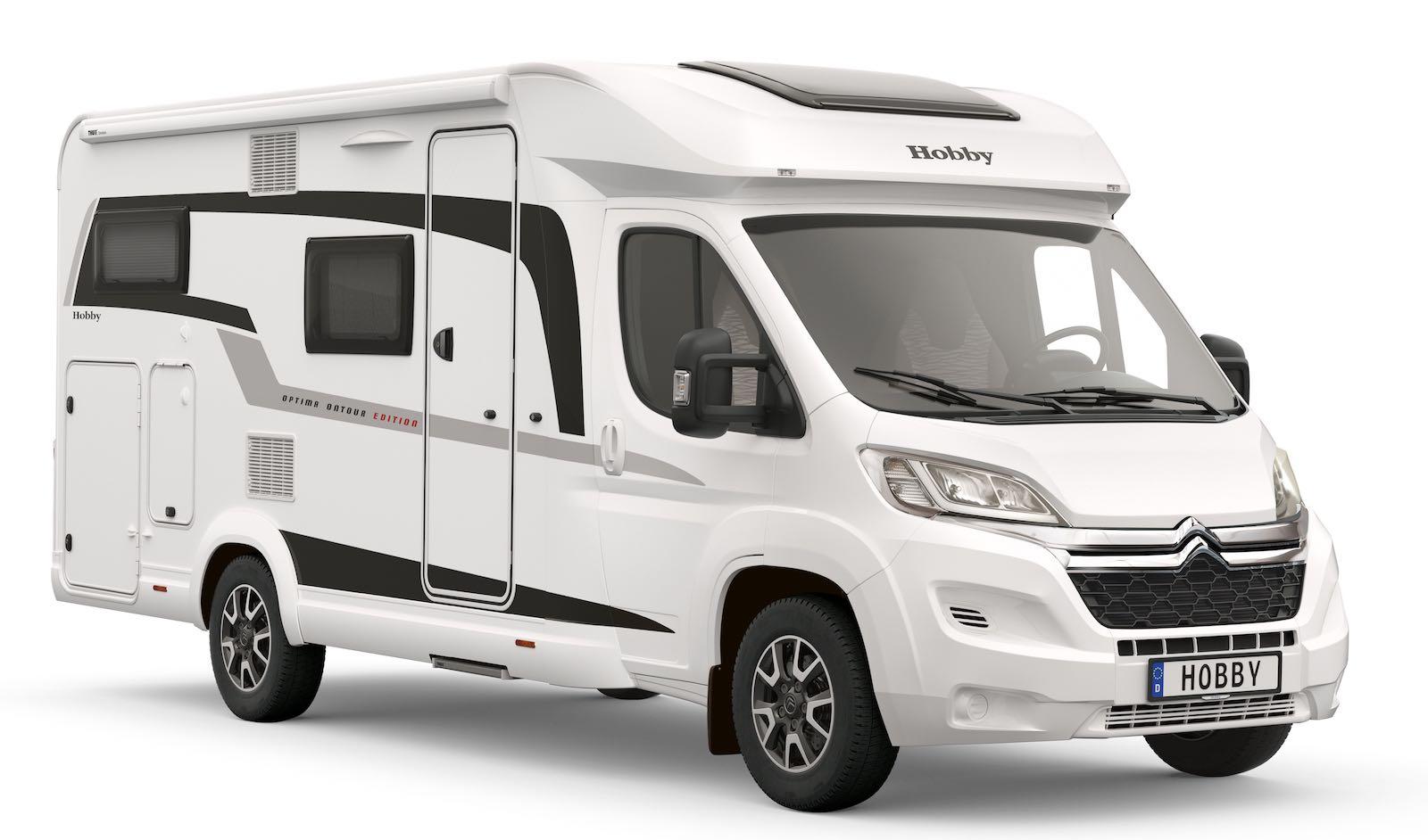 deux camping cars hobby plus troits et plus l gers sur citro n jumper camping car le site. Black Bedroom Furniture Sets. Home Design Ideas